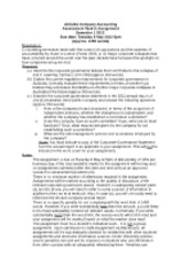 ACC221 Assign Qs S1 2012
