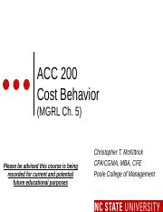 #09 CH5 MOODLE ACC200 Cost Behavior -Fall 2015 (1).pptx