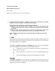 Law For Engineer -Final Exam 2012 - answer for Tort of Negligence.pdf