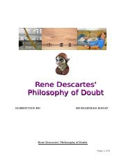 Rene Descartes' Philosophy of Doubt
