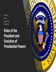 Roles of the President and Evolution of Presidential.pptx