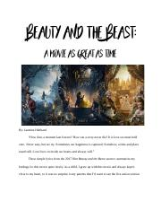 Beauty and the Beast Review.docx