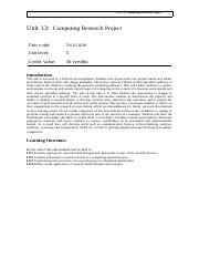 Textbook evaluation-Unit 13- Computing Research Project.docx