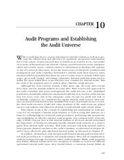 2-10_Audit Programs and Establishing the Audit Universe