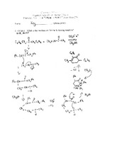 Exam 3 Fall 2000 Solution on Organic Chemistry II