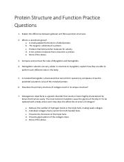 Protein Structure and Function Practice Questions1.pdf