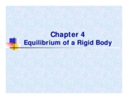 CV2101 Chapt 4 - Equilibrium of a Rigid Body
