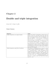 Double and Triple Integration Lecture