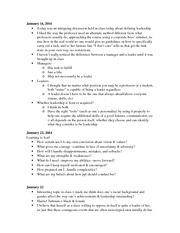 Profile paper assignment - Journal