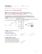 Phys1401-Lab-Vectors-Forces