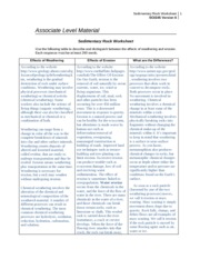 SCI 245 Week 3 Sedimentary Rock Worksheet