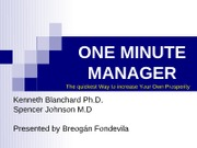 One Minute Manager-Fondevila