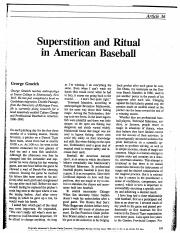 SuperstitionandRitualinAmericanBaseball