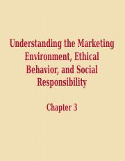 BUSMKT 1040 Chapter 3 Environment Ethics Social Responsibility.ppt