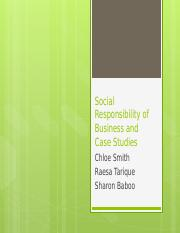 Social Responsibility of Business and Case Studies.pptm