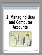 2-Managing user and Computer Account