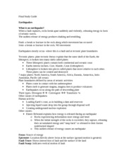 science of natural disasters final study guide