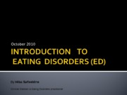 9. Eating Disorders
