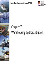 Chapter 7 Warehousing and Distribution