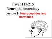 Lecture 9-Neuropeptides and Hormones