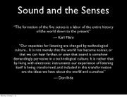 Sound and the Senses(1)
