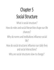 Chapter 5 Social Structure.ppt
