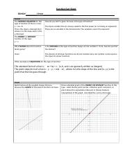 Linear Function Fact Sheet