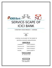 276071398-Service-scape-Analysis-of-ICICI-bank-branch.docx