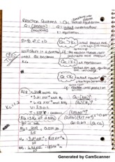 The Reaction Quotient Notes