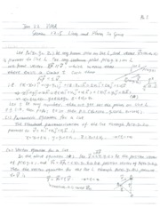 Lecture Notes on Line and Planes in Surface