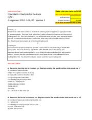 qat 1 task 3 answers Quantitative analysis for business qat-1 submitted 2 years ago by theahmad1 i'm currently taking this course and i've completed tasks 1,3,5, but i am stuck hard on tasks 2 and 4 anybody here can help.