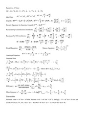 Final Equation Sheet