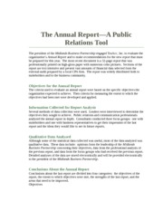 annual report analysis