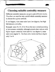 Centrality Measure notes