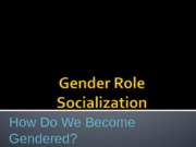 gender roles norms and socialization