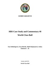 HBS Case Study #8 World-Class Bull