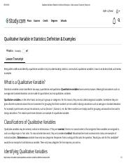 Qualitative Variable in Statistics_ Definition & Examples - Video & Lesson Transcript _ Study