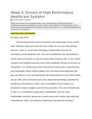 NR506 Wk 5 Drivers of Healthcare.docx