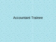 Accountant Trainee
