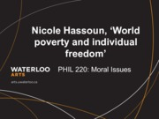 Phil 220 World poverty and individual freedom