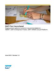SAP Fiori Launchpad Deployment Options