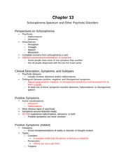 Chapter 13 (Schizophrenia & Psychotic Disorders)