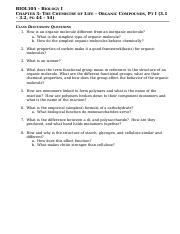 BIOL105-F - Chapter 3 Pt I - Class Questions - 28Aug2015
