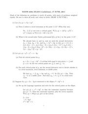 MATH 2450 Summer 2011 Midterm 2 Solutions