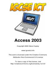 21134908-Access-2003-for-IGCSE-ICT(1)