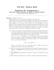 Assignment 01 (Solutions)