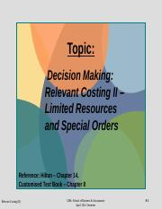 Week 13 Relevant Costing II _ Ltd Resource_Special Orders (FV) week beginning 14 July 2014.pptx