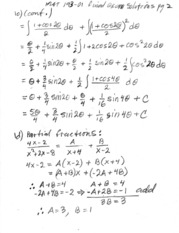 Final Exam Solutions Part 2