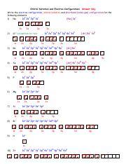 Orbital Notation And Electron Configuration Answer Key Pdf Orbital Notation And Electron Configurations Answer Key Write The Electron Configuration Course Hero