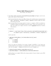 Homework 1 with solutions